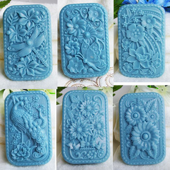Animal Dragonfly shaped soap molds cake decoration molds butterfly rectangle silicone rubber molds