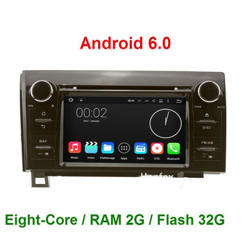 HD1024*600 Android 6.0.1 Octa Core 2 Din CAR DVD Player GPS navigation FOR Toyota Tundra 2007-2013 Sequoia 2008- WIFI DAB